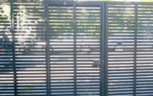 Porton Batiente 2 Hojas con puerta peatonal en Pletina